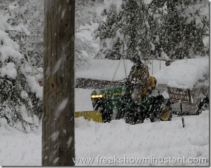 john deer mower makes a good plow I guess.