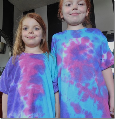 Finished tie dye shirts